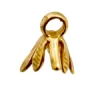 Bronze Bail 6 Leaves 6.5mm Long